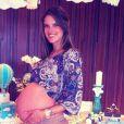 Photo personnelle d'Alessandra Ambrosio lors de la baby shower, le 6 mai 2012, de son futur garçon, postée sur sa page Facebook
