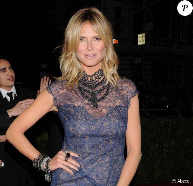 Heidi Klum assiste au Costume Institute Gala, à New York. 7 mai 2012
