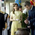 Le prince Frederik et la princesse Mary de Danemark ont entamé leur visite officielle en Corée du Sud le 10 mai 2012.