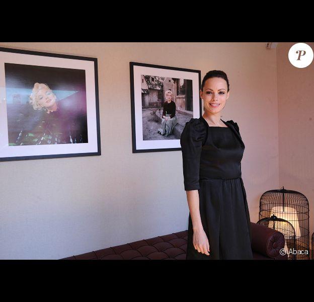 Bérénice Bejo pose pour un photocall la veille de l'ouverture du festival de Cannes, le 15 mai 2012