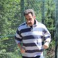 Nicolas Sarkozy, premier footing de citoyen presque lambda, au bois de Boulogne, le 15 mai 2012.