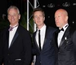 Bill Murray, Edward Norton et Bruce Willis au festival de Cannes le 16 mai 2012