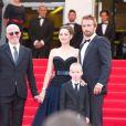 Présentation du film De rouille et d'os au festival de Cannes le 17 mai 2012 avec Jacques Audiard, Marion Cotillard, Matthias Schoenaerts et Armand Verdure