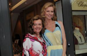 Cannes 2012 : Eva Herzigova, lumineuse pour Chopard, partenaire du Festival