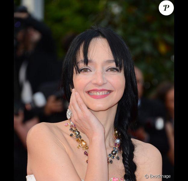 Maria de Medeiros au Festival de Cannes, le 17 mai 2012.