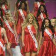 Sur plus de 60 candidates, Jenna Talackova entre dans le top 12 lors du concours Miss Univers Canada, à Toronto, le 17 mai 2012