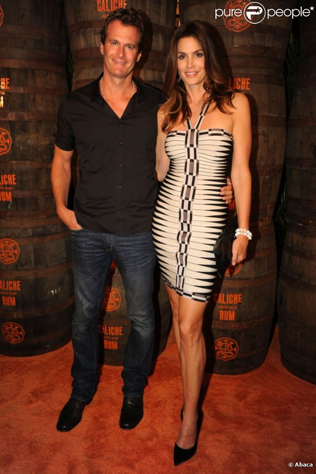 Cindy Crawford et son mari à Miami le 24 mai 2012.