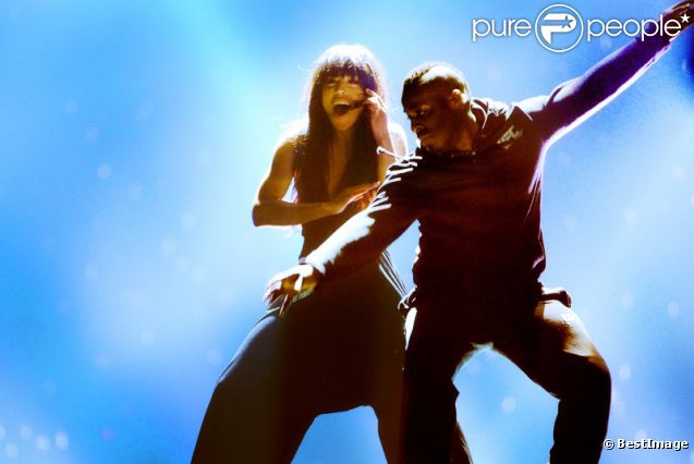 Loreen, à Badou en Azerbaïdjan, lors des répétitions de l'Eurovision 2012, le vendredi 25 mai 2012.