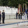 Le président des Etats-Unis Barack Obama avec sa femme Michelle lors de commémorations au cimetière américain d'Arlington le 28 mai 2012
