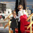 La reine Sonja et sa petite-fille Lea Isadora Behn lors de la célébration des 75 ans de Harald V de Norvège et de Sonja de Norvège le 31 mai 2012 à Oslo