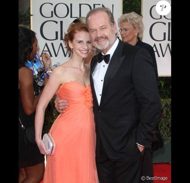 Kelsey Grammer et sa femme Kayte lors de la cérémonie des Golden Globes en janvier 2012