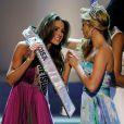 Olivia Culpo, Miss Rhode Island, est couronnée Miss USA 2012 lors du concours de beauté à l'hôtel-casino Planet Hollywood. Las Vegas, le 3 juin 2012.