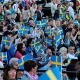 La famille royale de Suède célébrait le 6 juin 2012 la Fête nationale, se rassemblant en fin d'après-midi pour la traditionnelle parade en carrosse de Drottningholm à Skansen, avant un dîner officiel au palais.