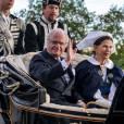 Le couple royal. La famille royale de Suède célébrait le 6 juin 2012 la Fête nationale, se rassemblant en fin d'après-midi pour la traditionnelle parade en carrosse de Drottningholm à Skansen, avant un dîner officiel au palais.