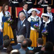 Les princesses Victoria et Madeleine radieuses pour la Fête nationale 2012