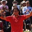 Rafael Nadal vainqueur lors de la demi-finale hommes du tournoi de tennis de Roland Garros le vendredi 8 juin 2012