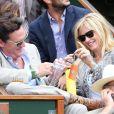 Michael Madsen et son épouse Deanna lors de la demi-finale hommes du tournoi de tennis de Roland Garros le vendredi 8 juin 2012