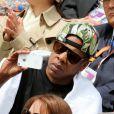 Jay-Z lors de la demi-finale hommes du tournoi de tennis de Roland Garros le vendredi 8 juin 2012
