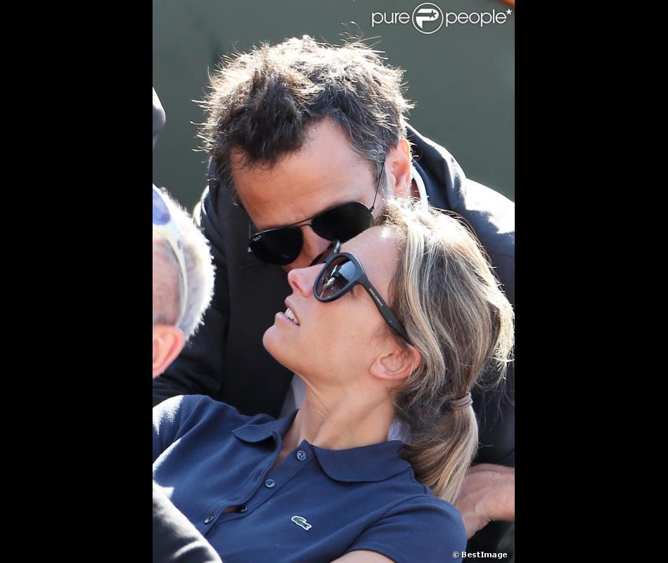 anne sophie lapix et son mari arthur sadoun fous damour lors de la demi finale hommes le vendredi 8 juin 2012 roland garros - Arthur Sadoun Mariage