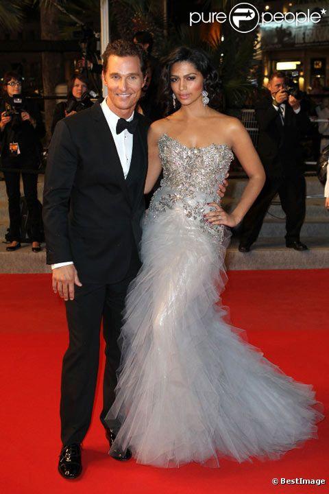Matthew McConaughey et Camila Alves en mai 2012 lors du festival de Cannes pour la présentation du film MUD