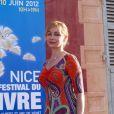 Emmanuelle Béart au Festival de Livre de Nice, le 7 juin 2012.