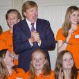 Le prince Willem-Alexander des Pays-Bas au 50e anniversaire du United World College, le 4 juin 2012 à La Haye.