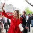 La princesse Maxima à l'Université Erasme de Rotterdam le 5 juin pour une conférence sur l'assurance-santé.