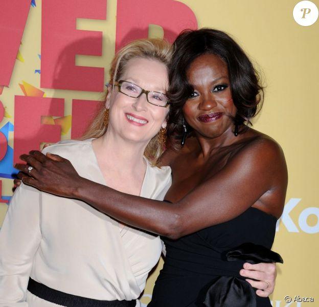 Meryl Streep et Viola Davis lors de la cérémonie des Women In Film Crystal + Lucy Awards, au Beverly Hilton Hotel à Beverly Hills le 12 juin 2012
