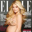 Jessica Simpson en couverture du magazine  Elle  (2012).