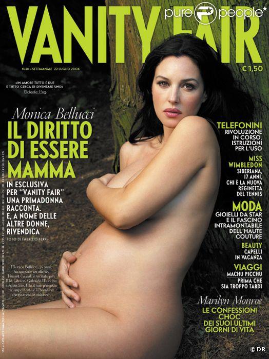 Monica Bellucci en couverture de  Vanity Fair  (2004).