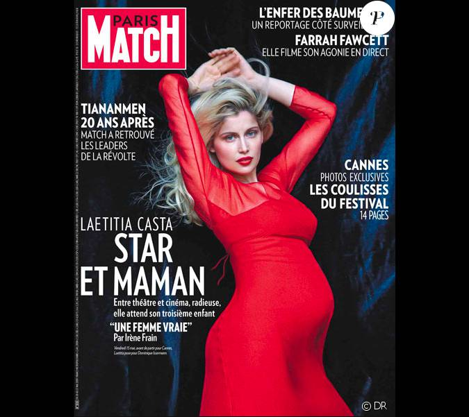 laetitia casta en couverture de paris match 2009. Black Bedroom Furniture Sets. Home Design Ideas