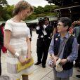 Le prince Philippe et la princesse Mathilde de Belgique ont visité le 11 juin 2012 le temple Meiji de Shibuya, à Tokyo, dans le cadre de leur visite économique du 11 au 15 juin.
