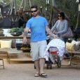 Jack Osbourne avec son bébé Pearl le 3 juin 2012 à Los Angeles