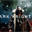 Bannière promotionnelle de The Dark Knight Rises avec Tom Hardy