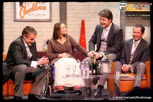 Vanessa Demouy, David Brécourt, Christian Vadim et Philippe Lellouche dans Le Jeu de la vérité 2, en 2008