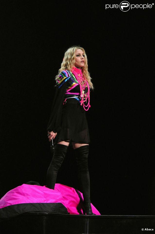 Madonna - Sticky & Sweet Tour - à New York, le 12 octobre 2008.