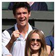 Kim Sears à Wimbledon, le 28 juin 2012, lors du match d'Andy Murray, qui s'est qualifié pour le 3e tour aux dépens d'Andy Murray.