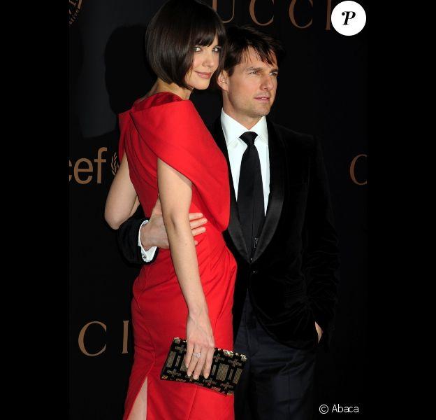 Katie Holmes et Tom Cruise, en février 2008 à New York.