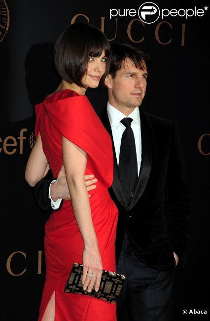 Katie Holmes et Tom Cruise, en février 2008 à New York.