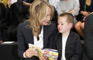 Fashion Week : Sharon Stone en duo avec son fils chez Dior Homme
