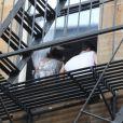 Adam Levine et sa petite amie Behati Prinsloo se promènent dans le quartier de Soho à New York le 1er juillet 2012