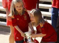 Les princesses Letizia, Leonor et Sofia fêtent la Roja et les héros de l'Euro