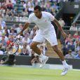 Jo-Wilfried Tsonga a du batailler pouraccéder à la demi-finale de Wimbledon le 4 juillet 2012 en disposant de Philipp Kohlschreiber (7-6, 4-6, 7-6, 6-2)