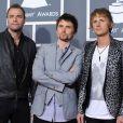 Le trio Muse aux Grammy Awards à Los Angeles, le 13 février 2011.