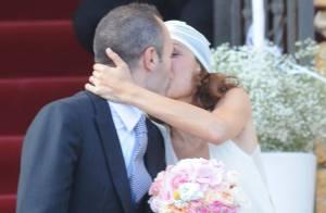 Andrés Iniesta et Anna Ortiz : Heureux mariés sous les yeux de Messi et Piqué