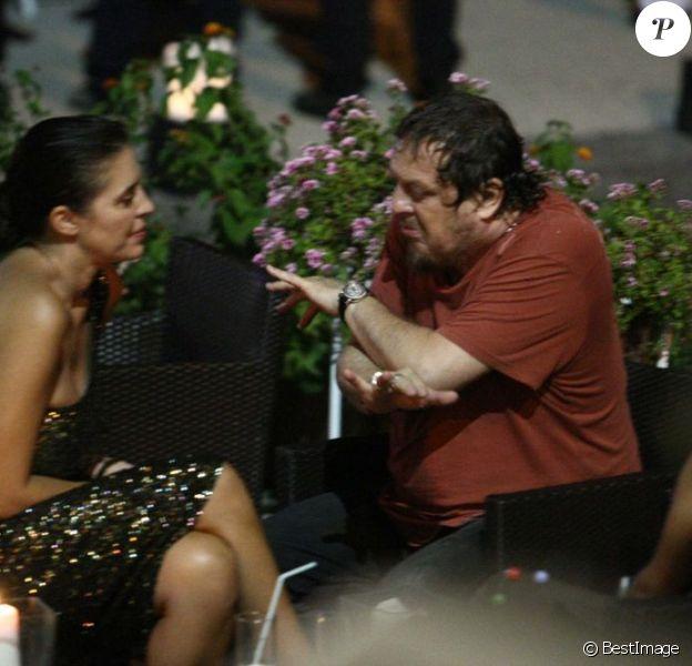 Zucchero et l'actrice italienne Gisella Marengo lors du festival Global Ischia le 8 juillet 2012