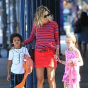Heidi Klum : Entourée des adorables Leni et Johan, elle avance