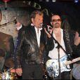 Johnny Hallyday et Dave Stewart sur scéne