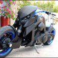 La nouvelle moto de Johnny Hallyday