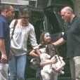 Katie Holmes et Suri Cruise, toujours aussi complices, à New York le 13 juillet 2012